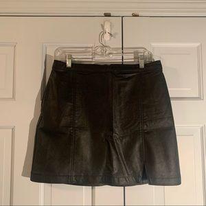 Abercrombie Black Faux Leather Mini Skirt